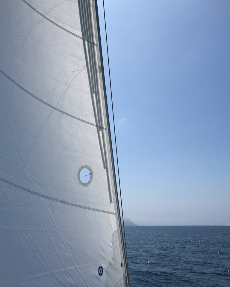 sailing across the channel