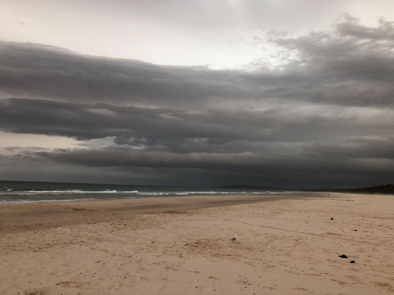 looming clouds at tallow beach