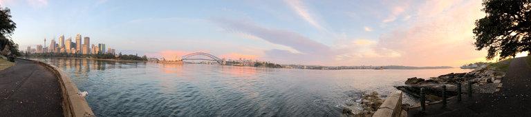 panorama from sydney harbor