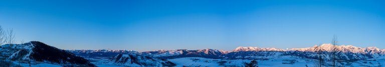 panorama of the teton range