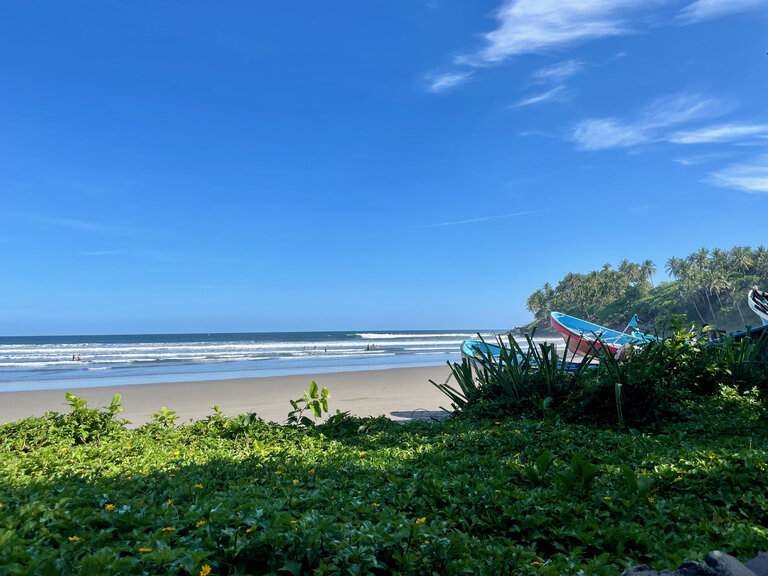view of the beach at las flores surf resort
