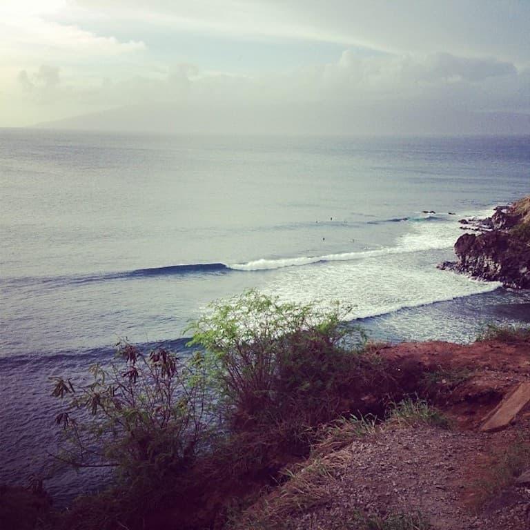 overlooking honolua bay
