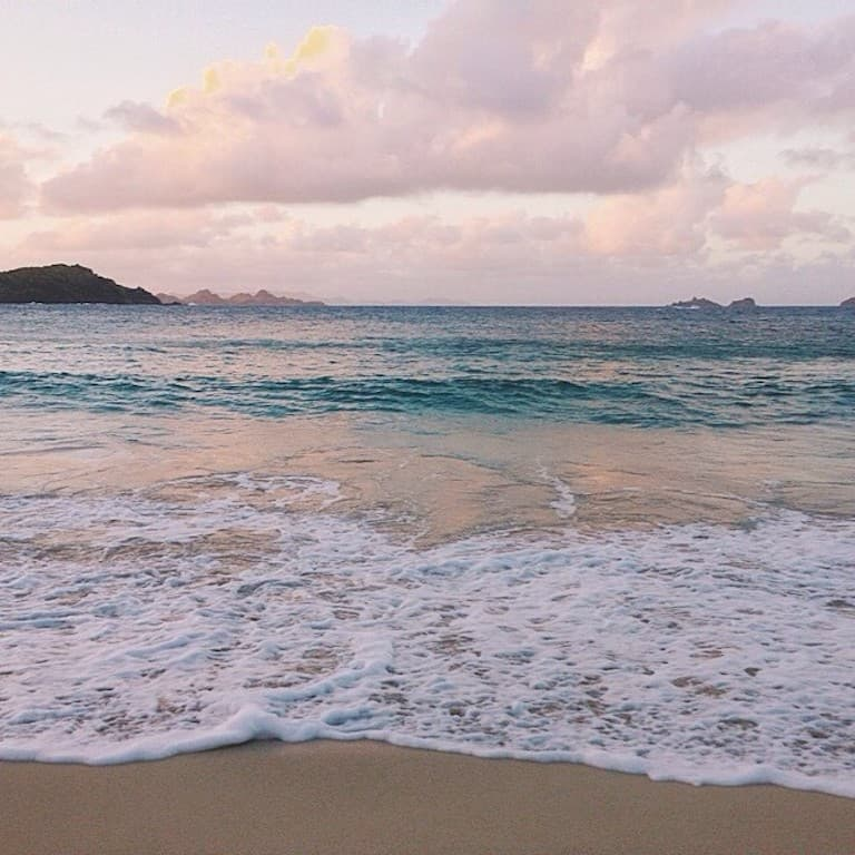 carribean sea from st barth