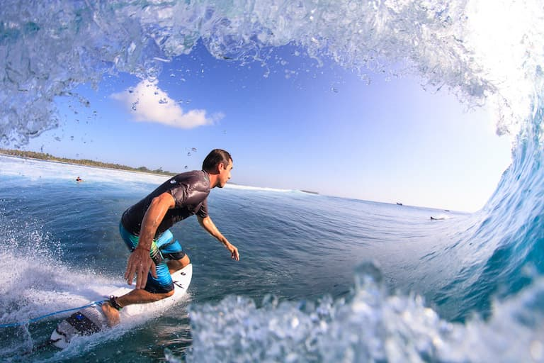 me getting barreled in indonesia this summer