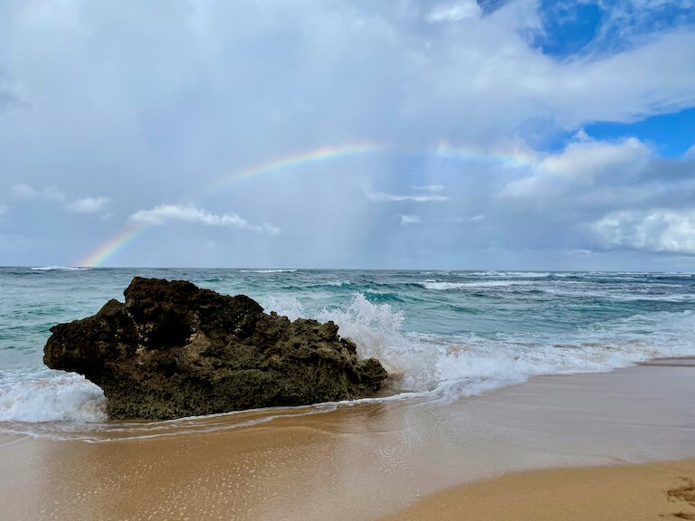 picture of the ocean from kauai's north shote