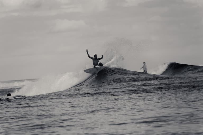 local surfer in maldives