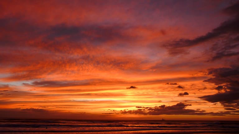 photo of sunset in costa rica