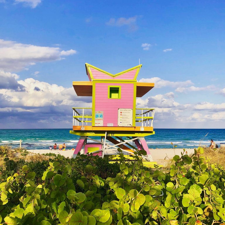 south beach lifeguard shack