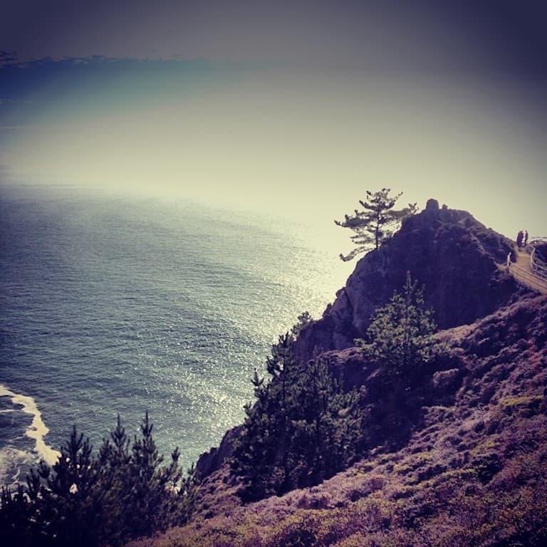 pacific ocean from muir beach overlook
