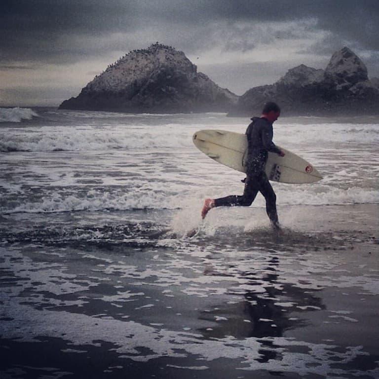 ocean beach surfer