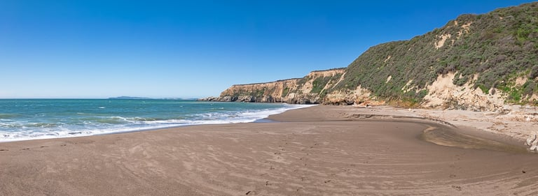 view of point reyes from beach