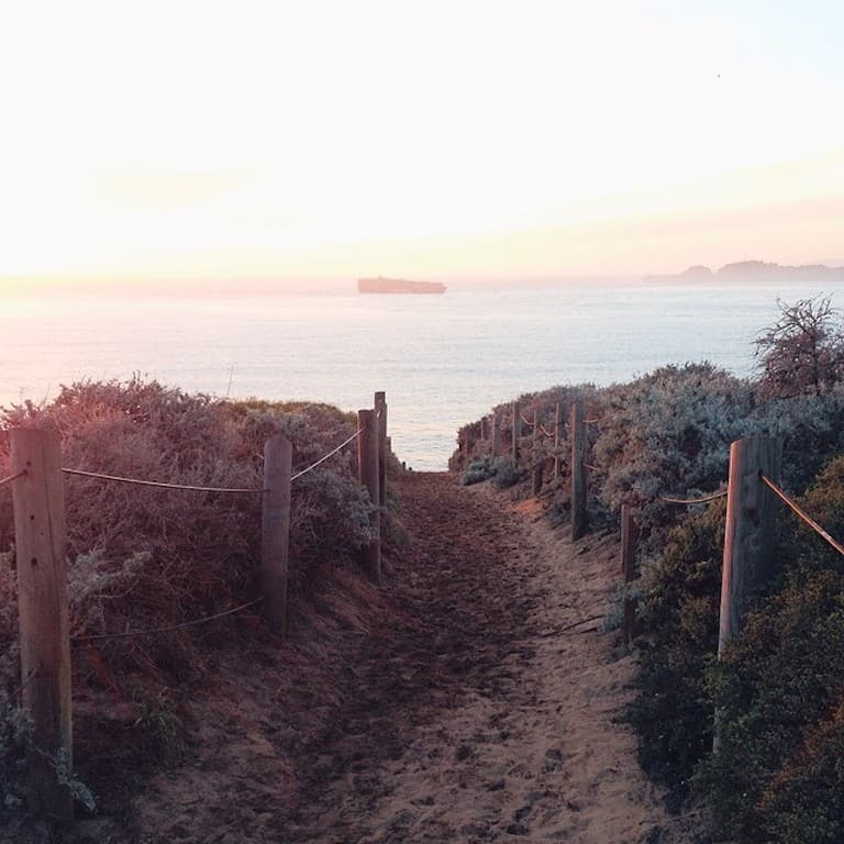 sunset from the sand ladder