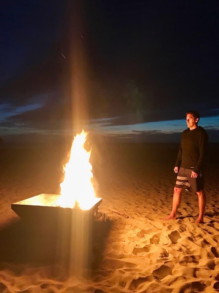 todos santos fire with JB