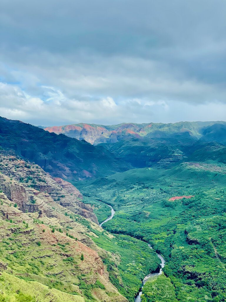 view from waimea canyon